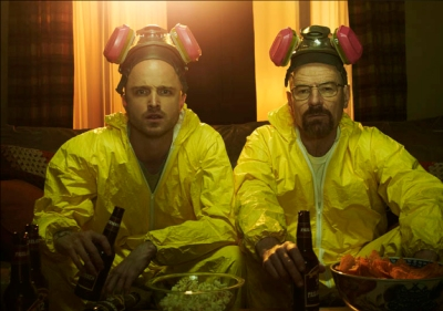 The TV drama's two main characters, Jesse Pinkman and Walter White. Photo courtesy of AMC, photo by Frank Ockenfels