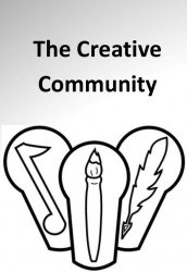 Logo for The Creative Community. Artwork courtesy of Jennifer Dweese
