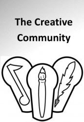 Logo for The Creative Community. Artwork courtesy of Jennifer Dweese