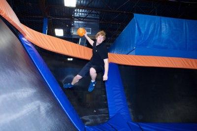 ultimate tramp dodgeball via skyzone