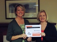 Beverly Notaro.2014 student services scholarship