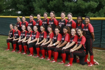 The Lake Land College softball team gears up for its season, which starts Saturday against Crowder Community College.