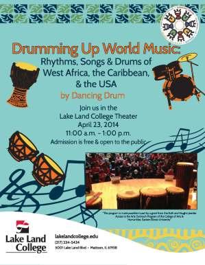 Dancing drums flyer