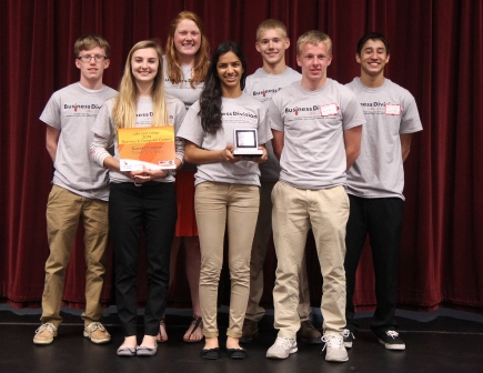 Centralia High School placed first overall at the annual Business and Computer Contest. Pictured in the front row from left are: Abby Hoyt, Sruti Suresh and Miles Burrus. In the back row, from left are: Tyler Bruce, Abbey Holtkamp, Trent Toennies and Dray Sodsaikitch.
